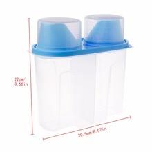 Plastic Food Storage Box Kitchen Food Cereal Grain Bean Rice Sealed Crisper Grains Tank Sorting Food Container Dispenser 2017