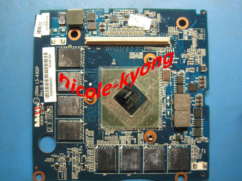 цена на G94-650-A1 512M LS-4302P JSRAA Graphic VIDEO VGA Card K000082001 K000064080 K000054850 for toshiba X305