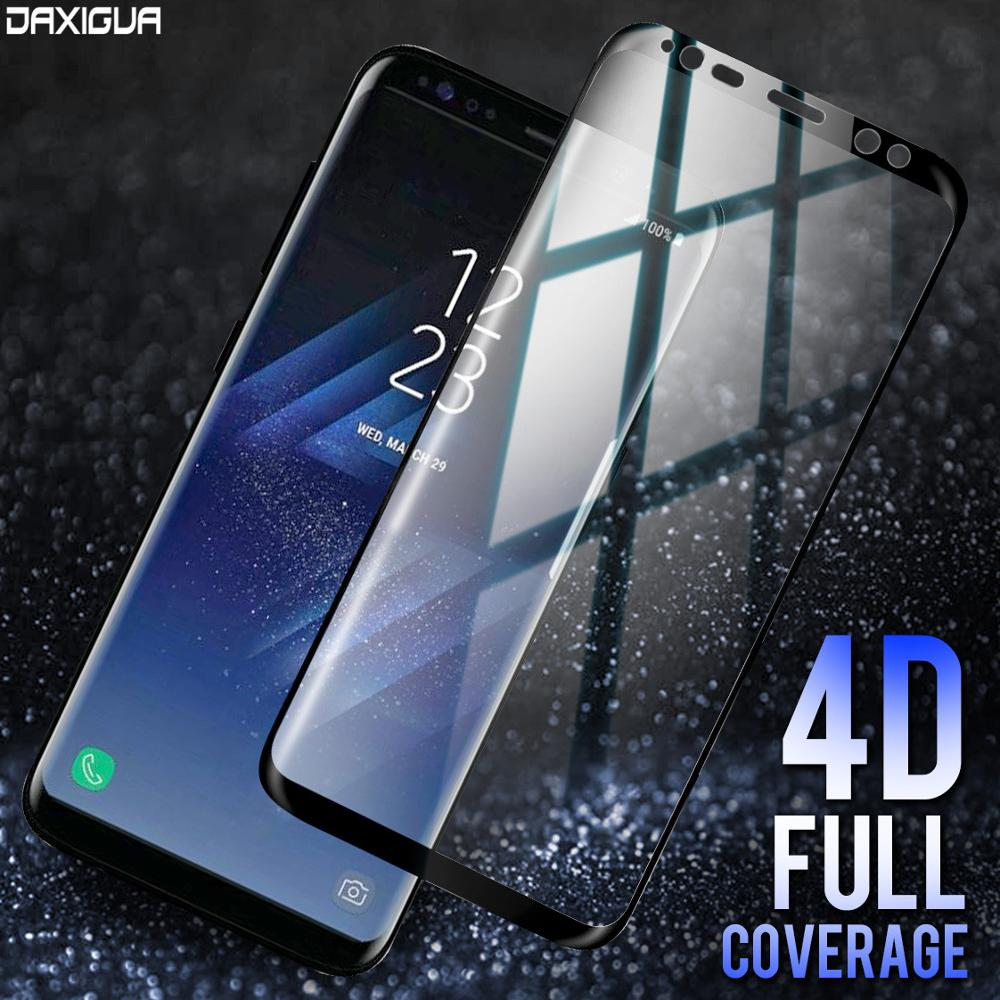 DAXIGUA 4D Full Cover Tempered Glass For Samsung Galaxy S8 S9 Plus Note 8 Screen Protector For Samsung Galaxy S8 S6 S7 Edge Plus