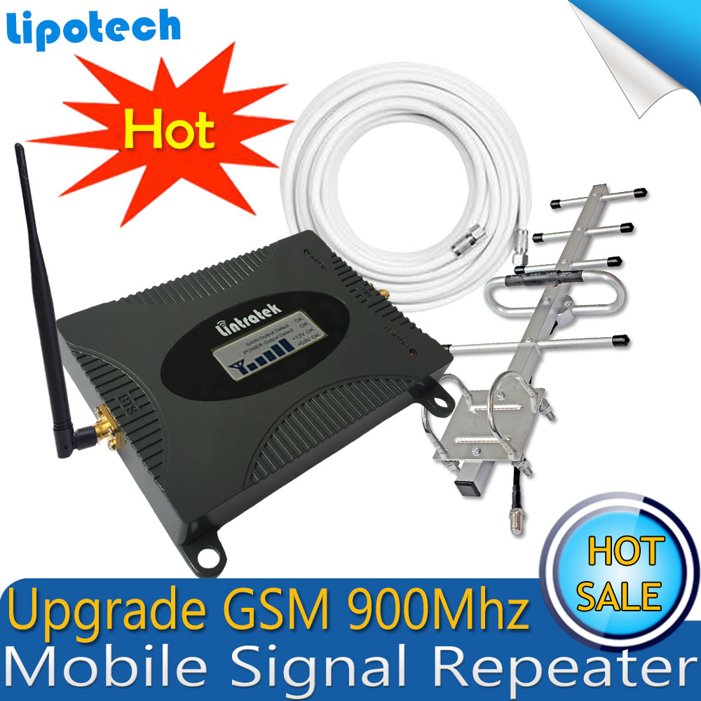 Lintratek New Arrival!! Upgrade GSM 900Mhz Mobile Signal Repeater ,Repetidor Signal Celular Amplifier , GSM Signal Booster