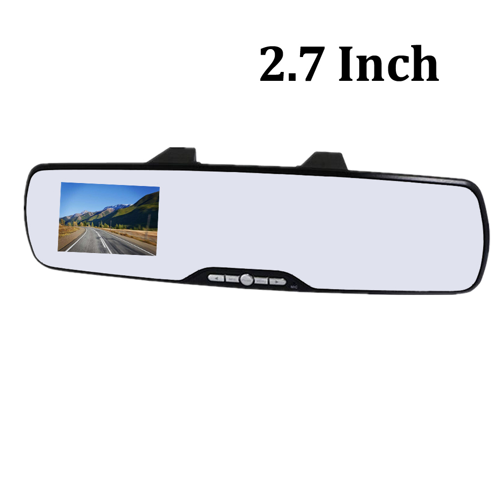 2.7 Inch rearview mirror car DVR Video Recorder 120 degree
