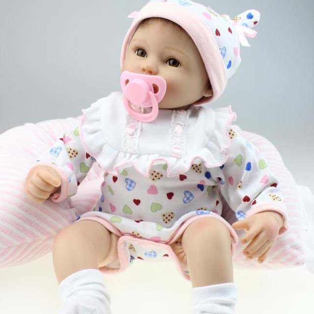 <b>2018 Best Christmas Gift</b> 45CM Silicone Reborn <b>Toddler</b> Dolls Girls ...
