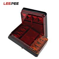2pcs 8 LED Car Tail Light Tailights Rear Lamps Rear Parts For Trailer Truck Boat Brake
