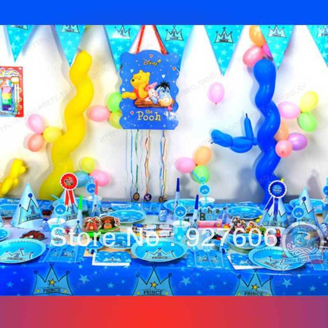 Happy Birthday 1st First Party Home Decorations Supplies For Kids Favors Prince Crown WZHH