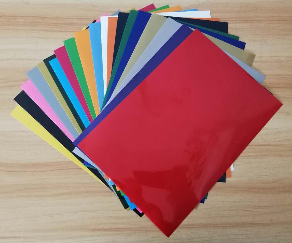O envio gratuito de 20 folhas/cores a4 pvc transferência térmica vinil ferro no vinil máquina da imprensa do calor de corte plotter htv t-camisa diy
