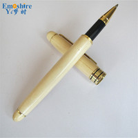 Advertising Stationery Creativos Wooden Roller Ball Pen Branding Ballpoint Pen For Writing Smooth Opening Ceremony Gifts