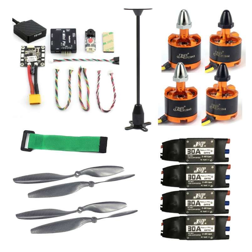 JMT 920KV Brushless Motor DIY Kits Radiolink Mini PIX M8N GPS Flight Control 30A ESC Propeller for 4-axis 6-axis RC Helicopter