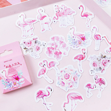 45PCS/PACK Kawaii Cute Flamingo Sticker Marker Planner DIY Diary Decorate School Stickers Scrapbooking Bullet Journal sl1803