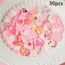 30 Pieces Slime Charms Mixed Pink Series Beads Slime Bead Making Supplies For DIY Collage Crafts(China)