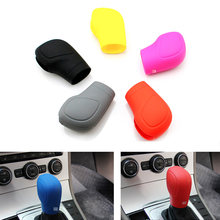 1 P Car Gear Head gear knob Silicone Cover Hand Brake Case for VW Golf 6 GTI DSG Jetta Tiguan POLO BORA Passat b7 Tiguan Touran(China)