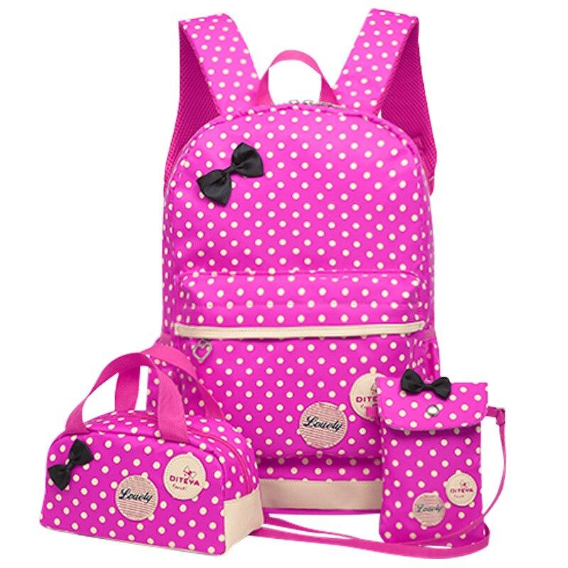 School Bags For Girls Kids Cute Printing School Backpack 3pcs/set Children Schoolbags Fashion Orthopedic Girl Backpacks WBS485