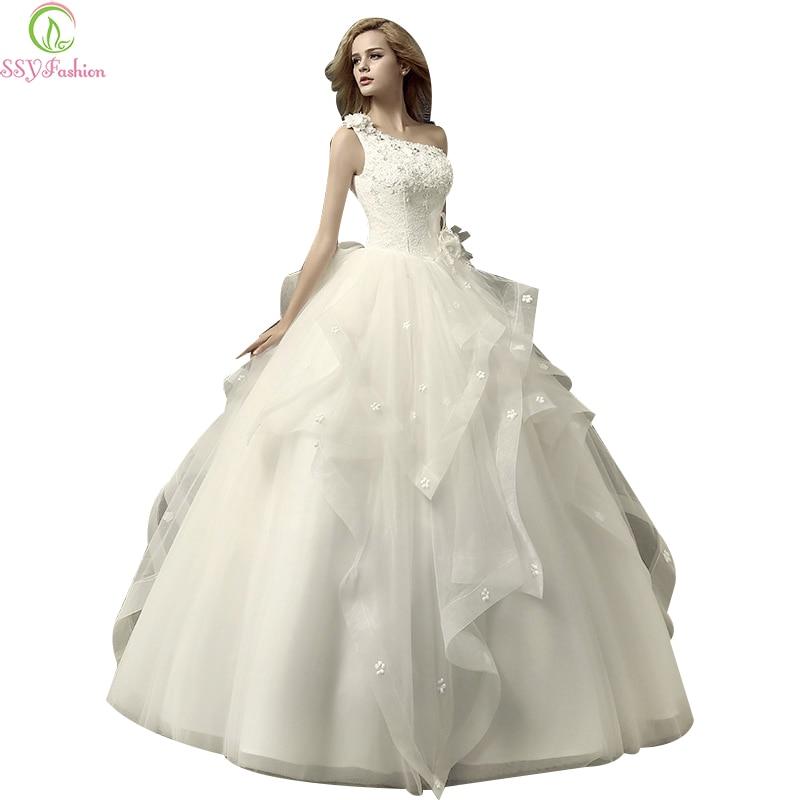 Ssyfashion Long Sleeve Wedding Dresses The Bride Elegant: SSYFashion Bride Pincess Luxury Wedding Dress Elegant