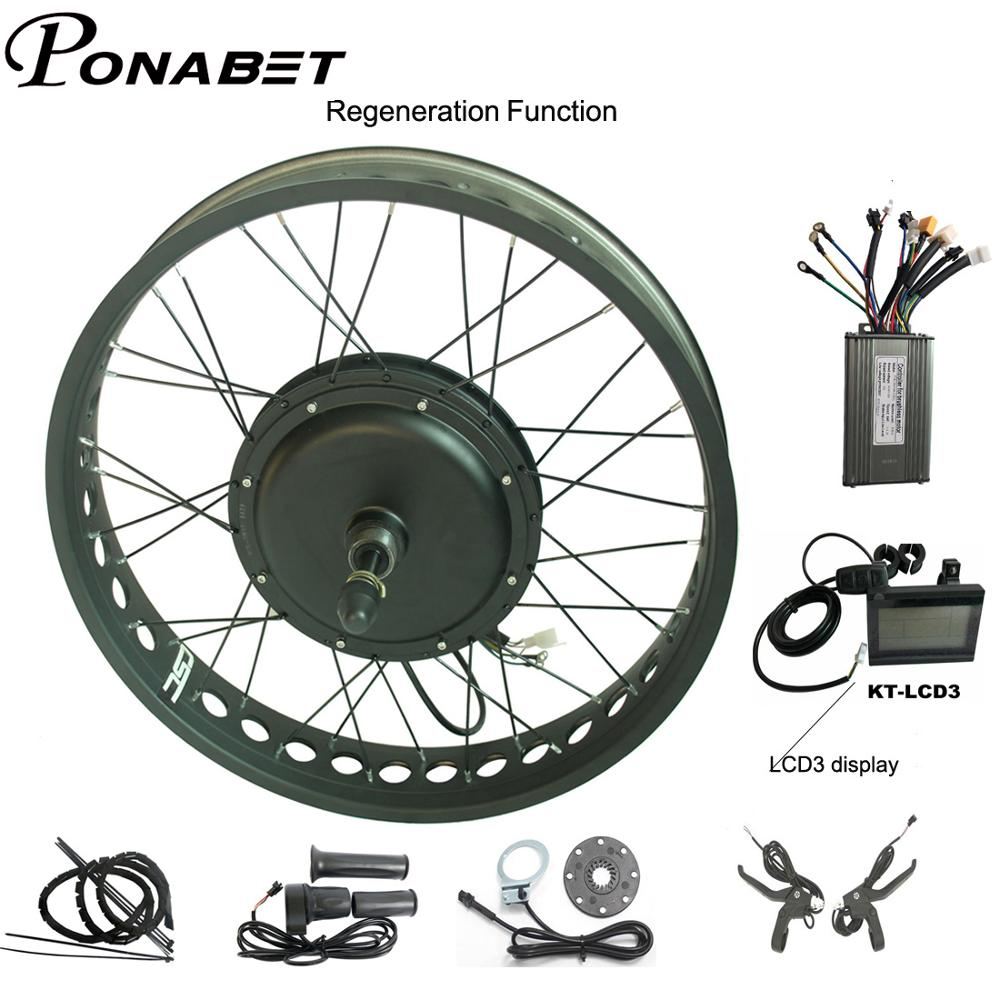 E bike Electric Bicycle Conversion Rear Kit 26 Brushless Non Gear Hub Motor Electric Snow bike