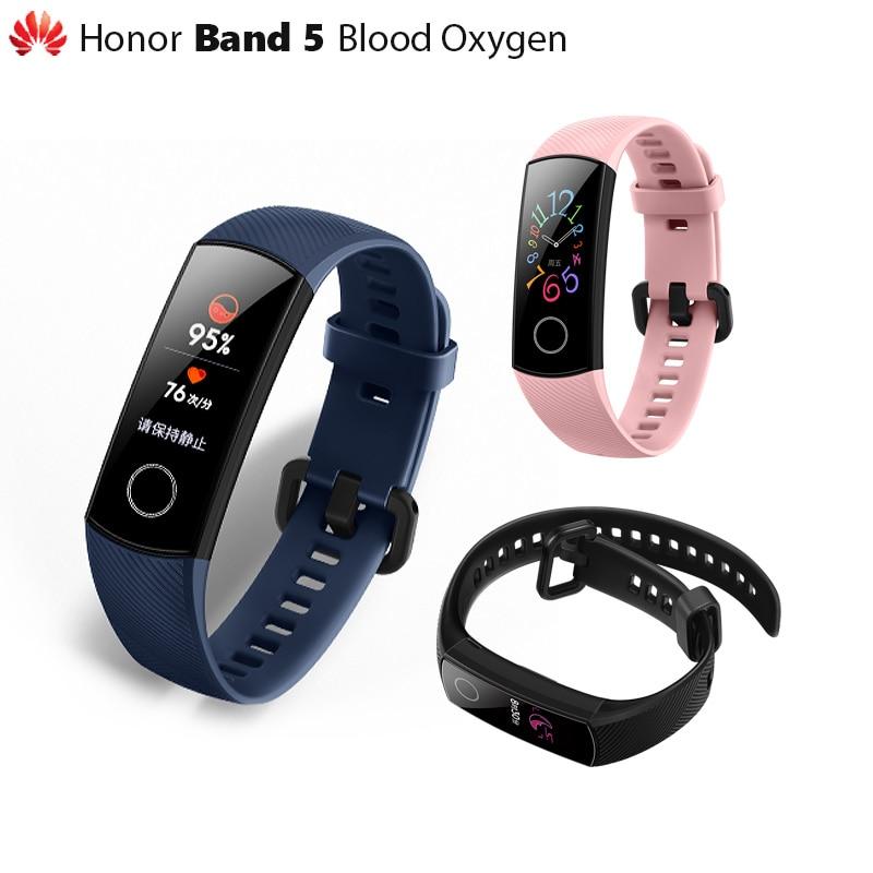 Original Huawei Honor Band 5 Smart Wristband Oximeter Magic Color Touch Screen Swim Stroke Detect Heart Innrech Market.com