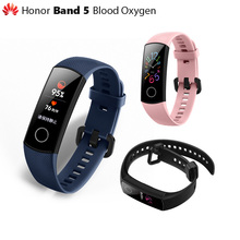Original Huawei Honor Band 5 Smart Wristband SpO2 Oximeter Magic Color Touch Screen Swim Stroke Detect Heart Rate Sleep Nap
