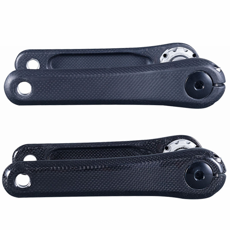 Bicycle Crank Carbon Fiber Crankset For Road/Mountain Bike Parts Length 170mm Glossy/Matte Black 100mmx250mmx0 3mm 100% rc carbon fiber plate panel sheet 3k plain weave glossy hot
