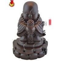 Rosewood sandalwood censer a mahogany carved furniture responsive ebony sand Maitreya Buddha ornaments gifts