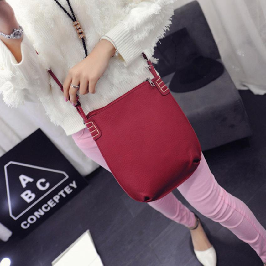 Bags For Women  Leather Handbag Crossbody Bag Simple Scrub Bucket Bag Messenger Bag May29