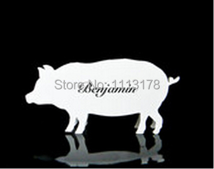 Us 9 6 20 Off Pig Place Cards Meal Choice Cards Seating Card Wedding Place Cards Farm Animals Baby Shower In Cards Invitations From Home