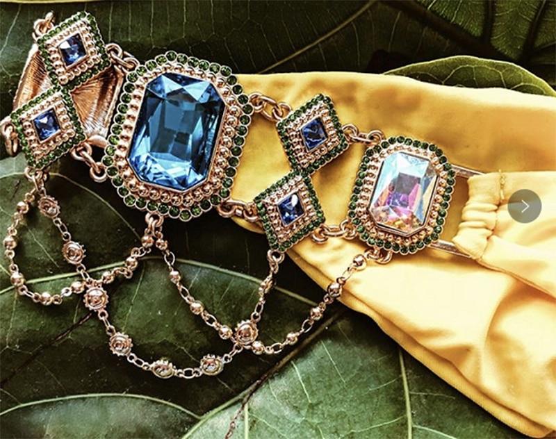 Новые идеи Сделай Сам красивые большие хрустальные стеклянные Соединительные элементы для бикини для купальника/стразы на цепочке для бюстгальтера