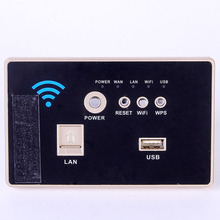 118 standard  in the wall panel AP wireless router wifi 3G / 4G usb switch socket ap router 150 mbps indoor wall embedded wireless wifi router repeater 3g 5v 2a usb charger socket panel with switch lan rj11 usb