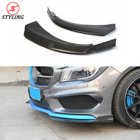 For Mercedes benz CLA45 250 260 AMG Carbon Front lip Bumper Splitter CLA W117 Rear Bumper Canard Splitter Trim 2014 2015 2016