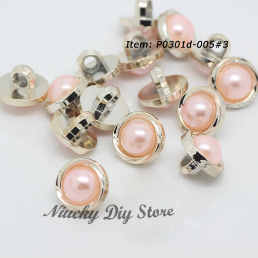 2013 Popular sewing coat buttons with pink imitation ABS pearl, shirt buttons suit for fashionable clothing