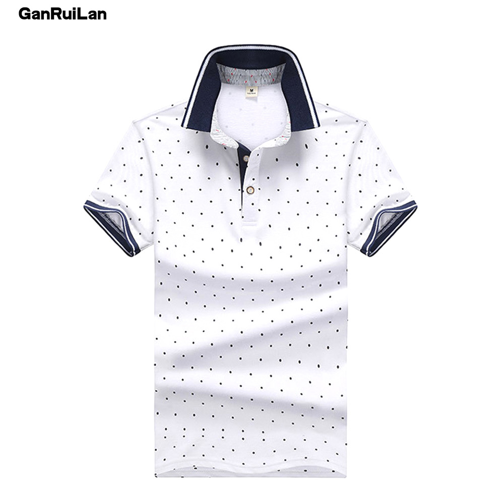 2019 New Brand Polos Mens Printed POLO Shirts 100% Cotton Short Sleeve Camisas Polo Casual Stand Collar Male Polo Shirt B0254