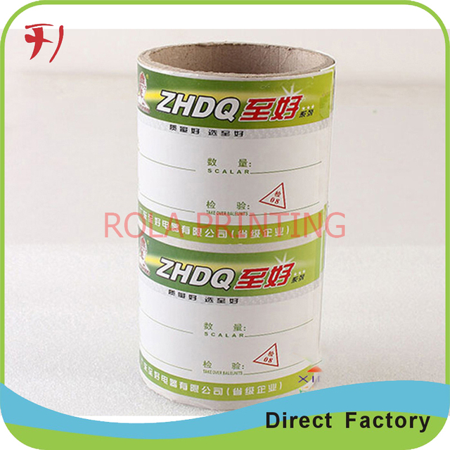 Eco-friendly custom round sticker printing, waterproof packaging label roll