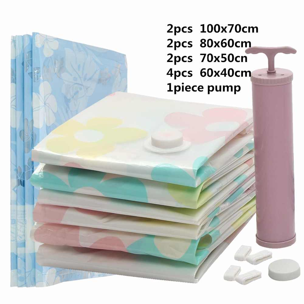 Dr 11pcs Vacuum Bags For Clothes Organizer Closet Storage Bag With Pump Best Sealer E Saver Travel Compression