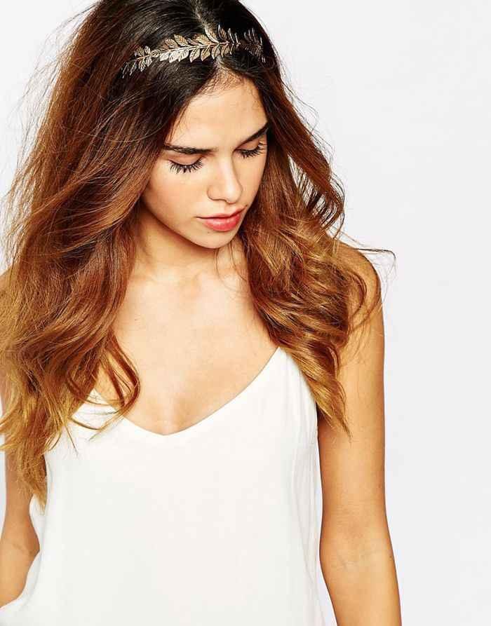 Hợp thời trang Hợp Kim Vàng Bạc Đầu Hoop Baroque Headband Thanh Lịch Lá Hairband Đối Với Phụ Nữ Phụ Kiện Tóc Cô Gái Công Chúa Trang Sức