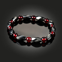 Oktrendy Unisex Magnetic Bracelet Hematite Stone Therapy Health Care Beads Bangle Magnet Men Women Slim Jewelry