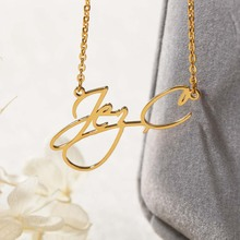 Custom Script Style Name Necklaces Personalized Woman Cursive Nameplate Choker Pendant Necklaces Bridesmaid Gift For Her