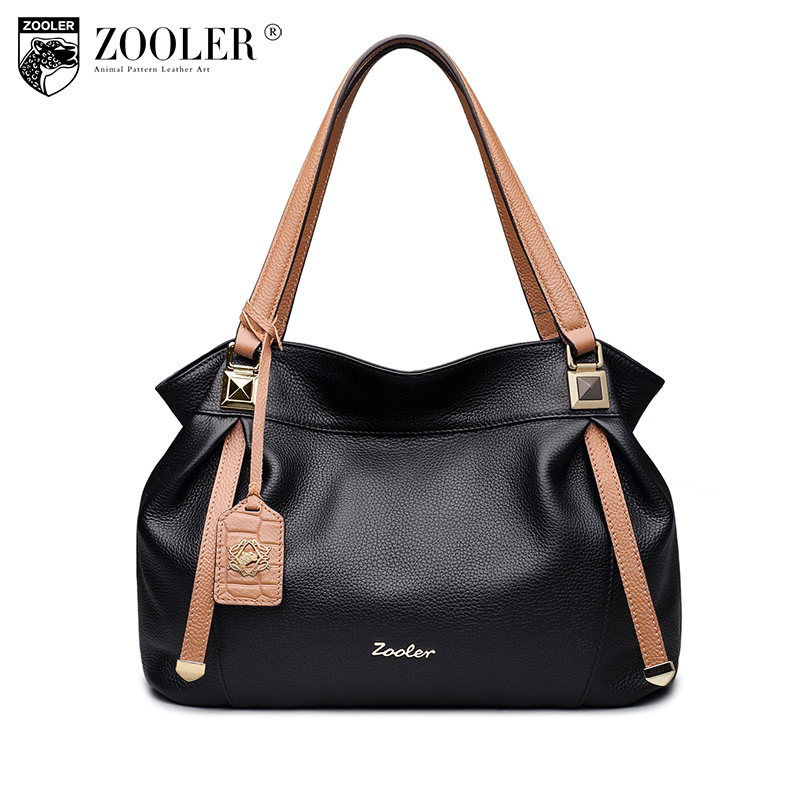 ZOOLER 2018 High quality women bag luxury genuine leather handbag designer 100% cowhide bags bolsa feminina for ladies#8121 zooler women 100