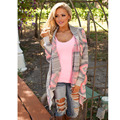 Fashion Women Sweaters Cardigan Coat Autumn Winter Printed Shrug for women Sweater Irregular Loose Blouse Geometric Pattern Knit