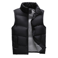 2018 Winter Men's Sleeveless Vest Casual Cotton Padded Photographer Coats Body Warmer Thickened Male Vests Waistcoats XCZ27