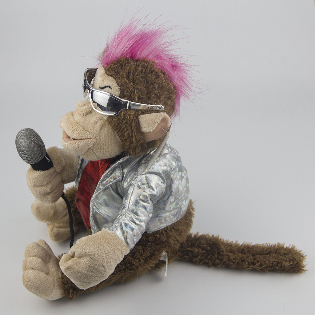 Electric Plush Toys Creative Doll Get Microphone Will Sing Karaoke Monkey Funny Toys 3
