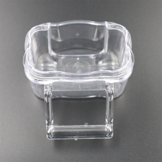 6 Pcs Cage Parrot Cage Special Transparent Water Splash Plugin Box Bird Water Feeder Bowl Plastic Birds Finches Pigeon Supplies 4