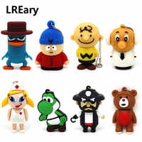 Cartoon pirate Pendrive USB Flash Drive 64gb 32gb 16gb 8gb 4gb funny cute Perry the Platypus pendrive memory stick Ted bear