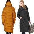 EMIR ROFFER 2017 das Mulheres de Inverno Para Baixo Feminino Jaqueta Designer de Moda Asymmetric Longo Grosso Quente Casaco De Neve Parka Plus Size