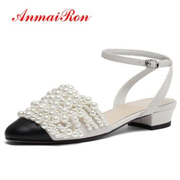 ANMAIRON   PU  High Heels Sandals Women Fashion  Basic  Casual  Lace-Up  Women Shoes Super High  Sandals Big Size 34-43 LY863