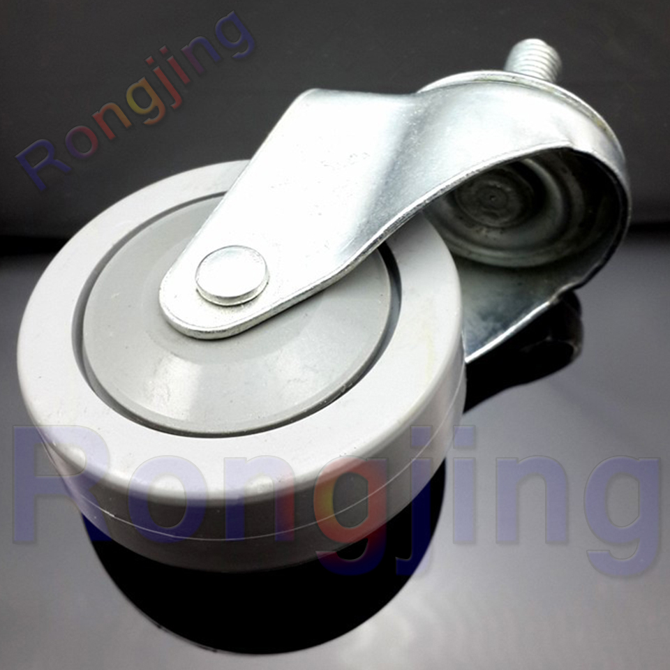 New 2.5'' Furniture Universal Caster 360 Degree PVC Screw Type Rolling Swivel Castor Screw M12x30 Type Chair Fast Pulley