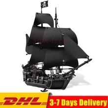 Совместимость с Legoing 4184 Пираты Карибского моря черный жемчуг корабль строительные блоки набор забавные подарки игрушка для детей