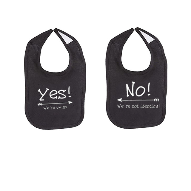 Culbutomind Rock Roll Yes We Are Twins Baby Bibs Funny Saying