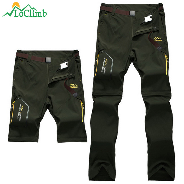 LoClimb Men Women Stretch Waterproof Camping Hiking Pants Outdoor Sport Trousers Trekking Mountain Climbing Fishing Pants,AM051 4
