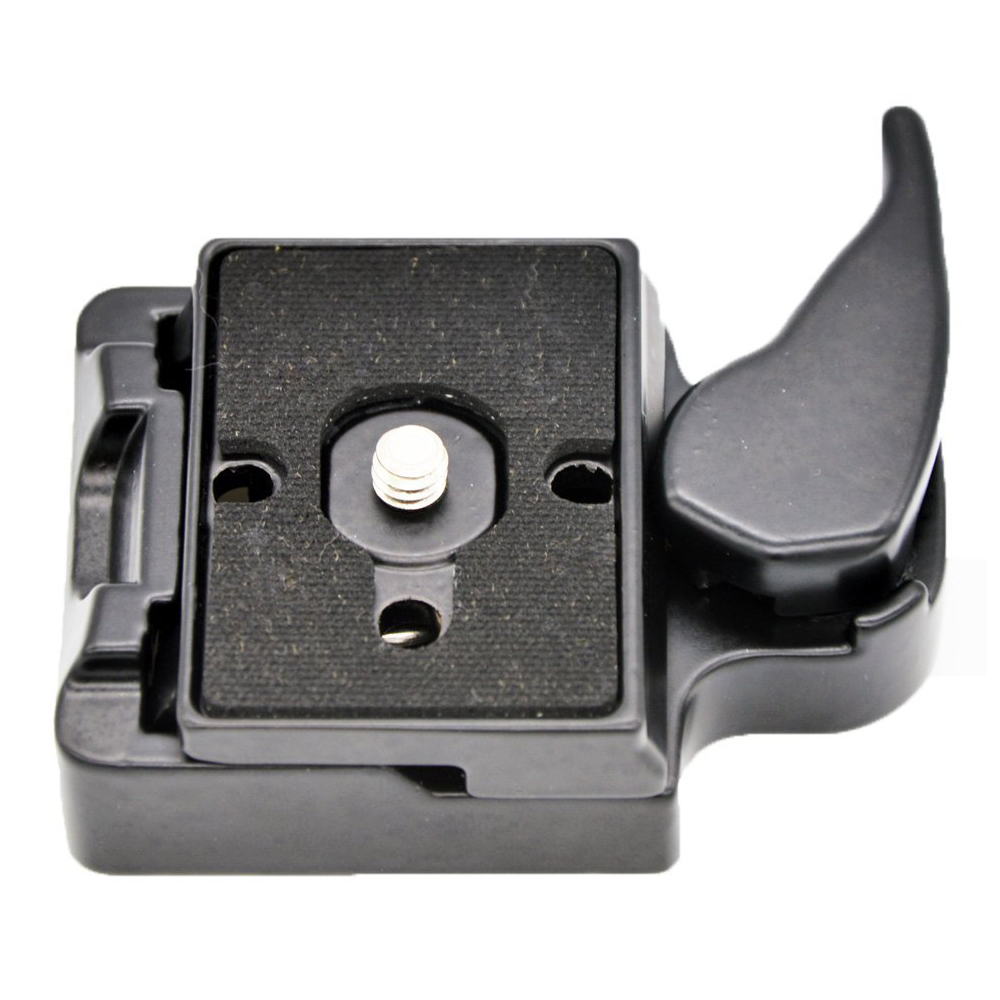 RC2 System Quick Release Adapter for Manfrotto Tripod 200PL-14 QR Plate(Black)