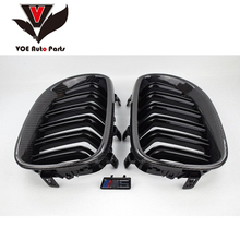 2004-2009 E60 Gloss Black Carbon Fiber M5 Style Auto Car Styling Front Racing Grill Grille for BMW E60 5 Series