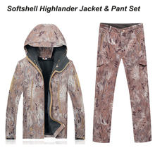 Highlander TAD military Uniforms Waterproof Windproof Jacket Hoody TAD softshell Jacket & pants Kryptek camo softshell sets