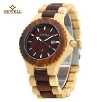 Wooden Watch For Mens Brand Design Red Dial Quartz Wristwatch Wood Strap Available Wood Watches For