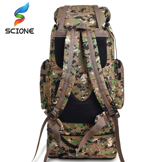 100L Large Capacity Highland Tactical Backpack Water-repellent Camping Hiking Mountaineering Military Backpack Adjustable